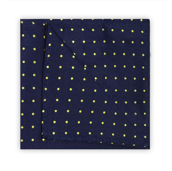 NAVY/YELLOW SPOT SQUARE