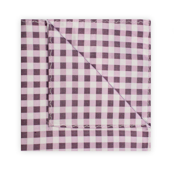 PURPLE/LILAC/WHITE GINGHAM SQUARE