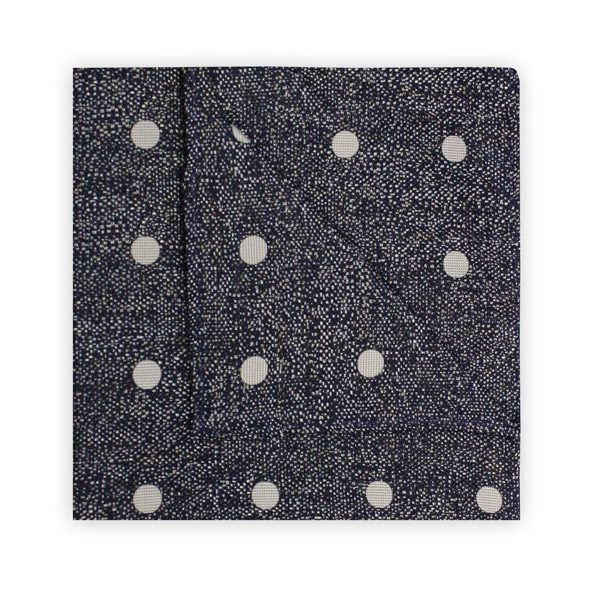 NAVY/WHITE MOTTLED SPOT SQUARE-0