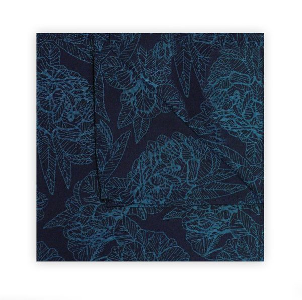 NAVY/TURQUOISE FLORAL SQUARE-0
