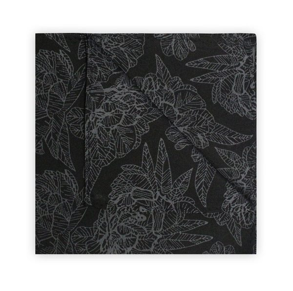 BLACK/GREY FLORAL SQUARE-0