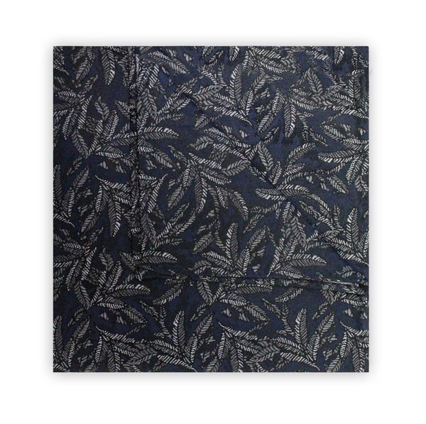NAVY/WHITE LEAF SQUARE-0