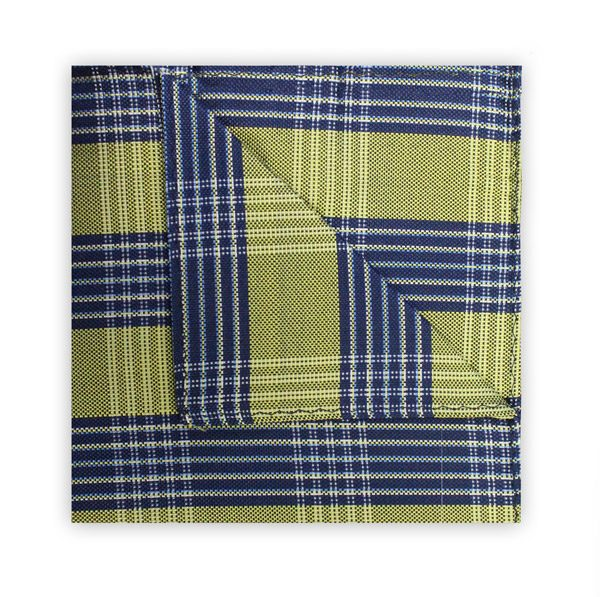 YELLOW/NAVY CHECK SQUARE-0