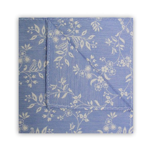 LIGHT BLUE/WHITE FLORAL SQUARE-0