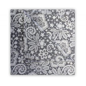 GREY/WHITE FLORAL LACE SQUARE-0