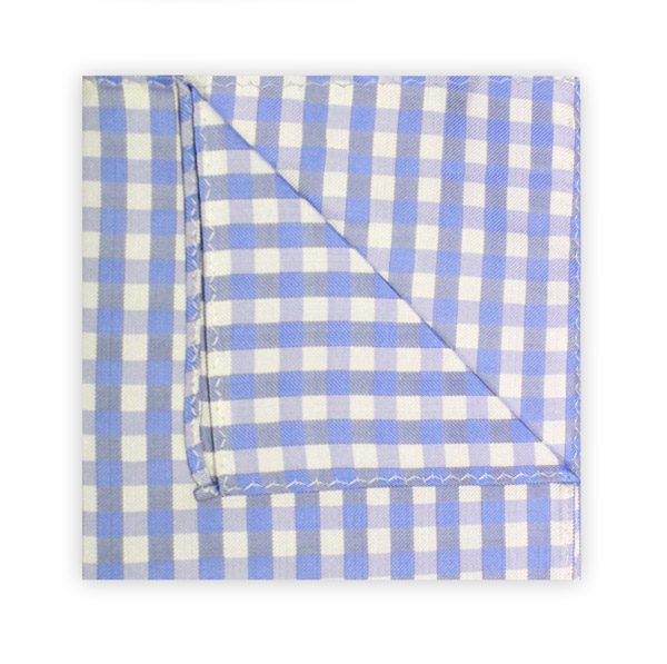 LIGHT BLUE/WHITE GINGHAM SQUARE-0