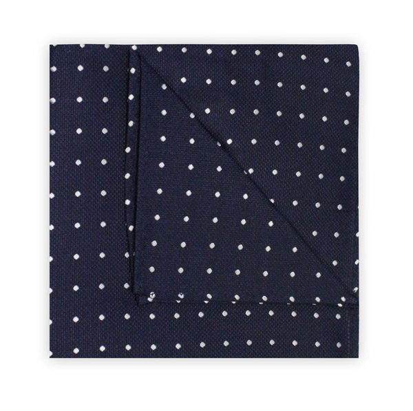 NAVY/WHITE SPOT SQUARE-0