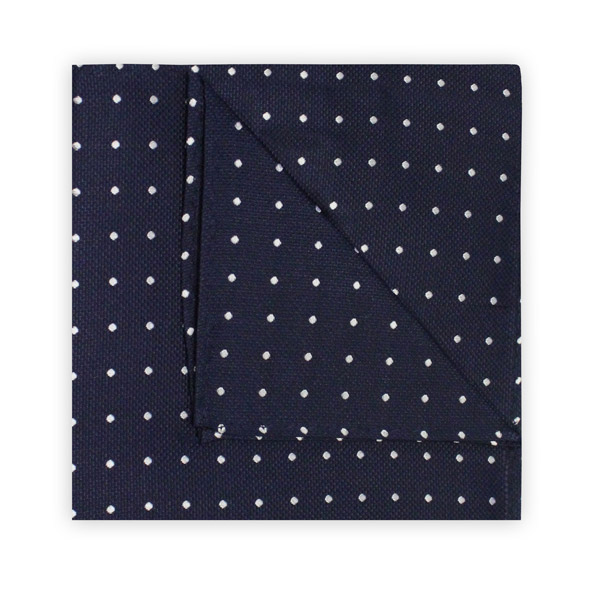 NAVY/WHITE SPOT SQUARE