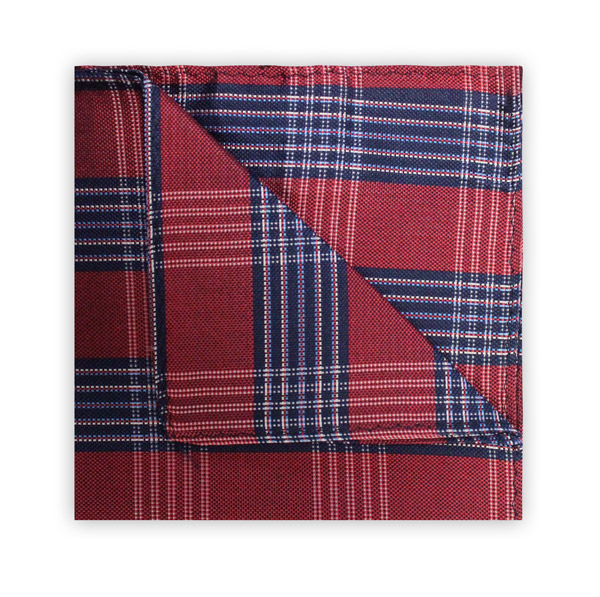 RED/NAVY CHECK SQUARE