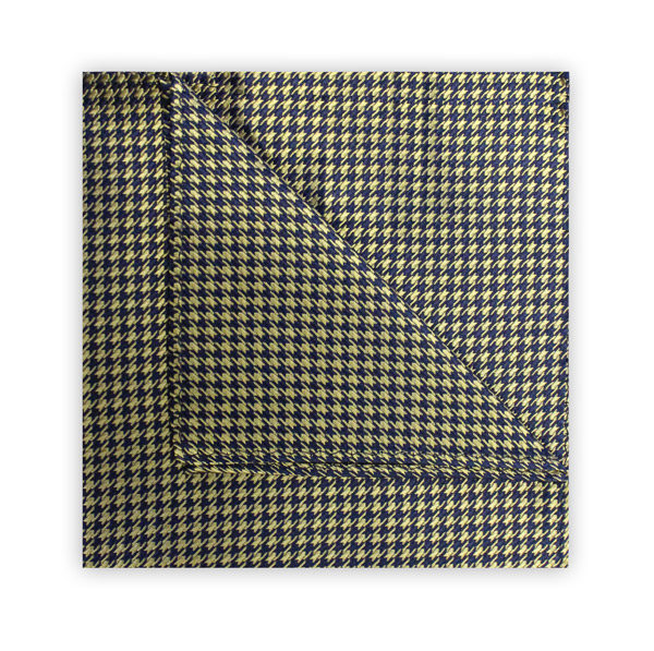 YELLOW/NAVY HOUNDSTOOTH SQUARE-0