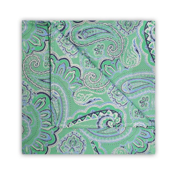 GREEN/BLUE PAISLEY SQUARE-0