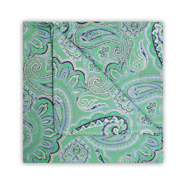 GREEN/BLUE PAISLEY SQUARE