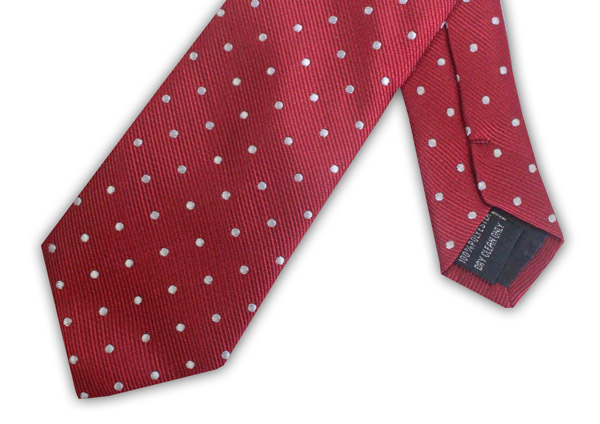 RED/WHITE POLKA DOT TIE