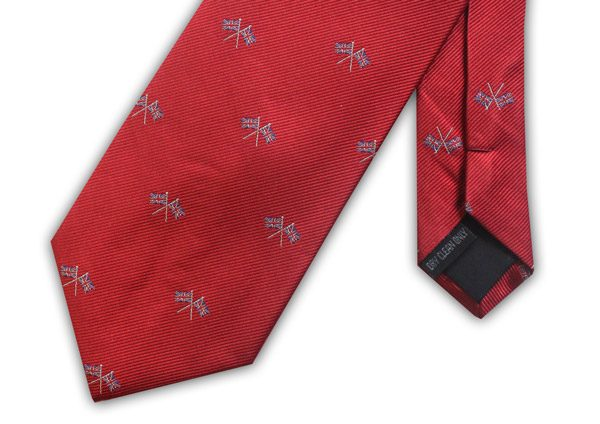 RED UNION JACK FLAG WOVEN SILK TIE-0