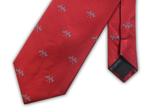 RED UNION JACK FLAG WOVEN SILK TIE