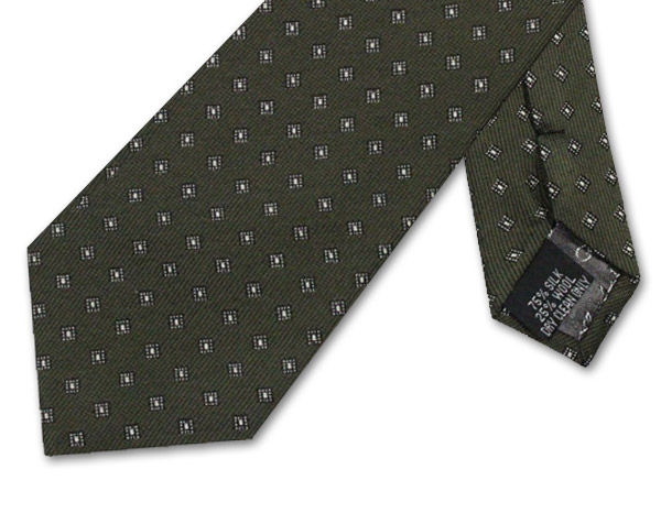 OLIVE GREEN DIAMOND TIE