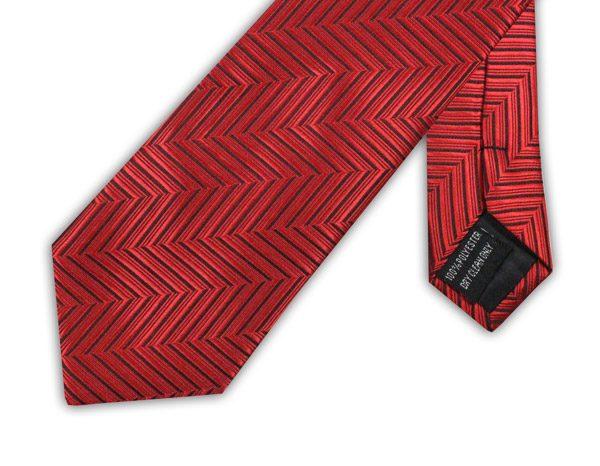 RED/BLACK ZIGZAG TIE-0