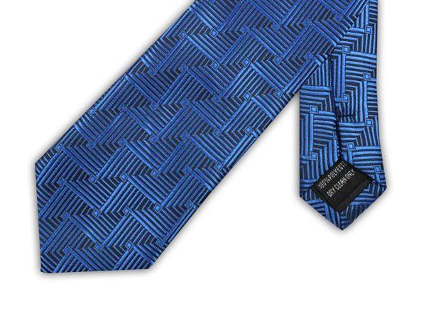 BLUE/BLACK GEOMETRIC TIE-0
