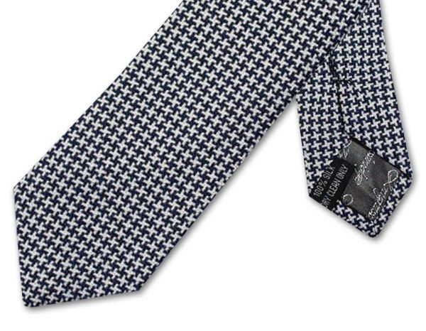 BLACK and WHITE HOUNDSTOOTH TIE-0