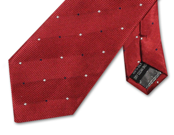 RED/WHITE/NAVY PIN DOT TIE