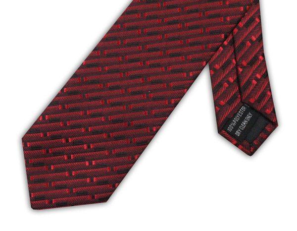 RED/BLACK BRICK TIE-0