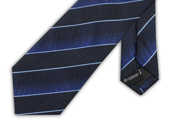 BLUE OMBRE XL POLYESTER TIE