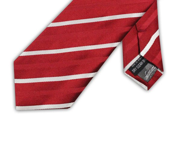 RED/WHITE CANDY STRIPE TIE-0