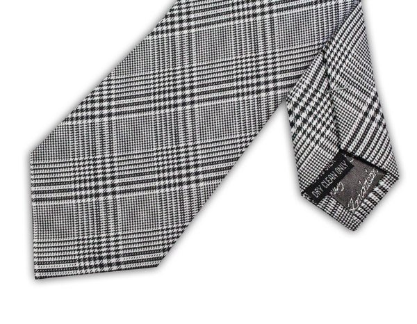 BLACK/WHITE HOUNDSTOOTH TIE-0