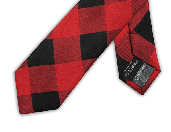 RED/BLACK CHECK TIE-0
