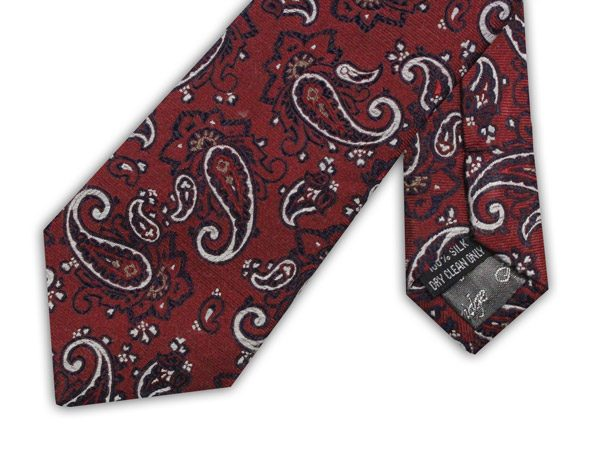 RED/NAVY/WHITE PAISLEY TIE-0