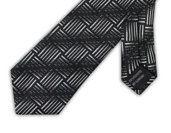 BLACK/WHITE GEOMETRIC TIE-0
