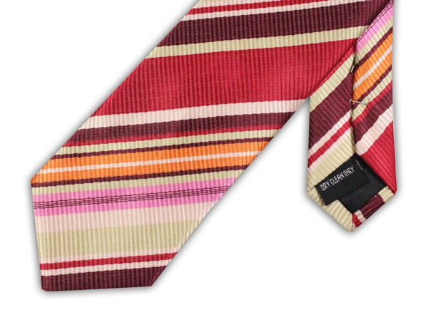 RED CANDY STRIPE TIE-0