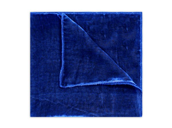 COBALT BLUE SILK VELVET SQUARE-0