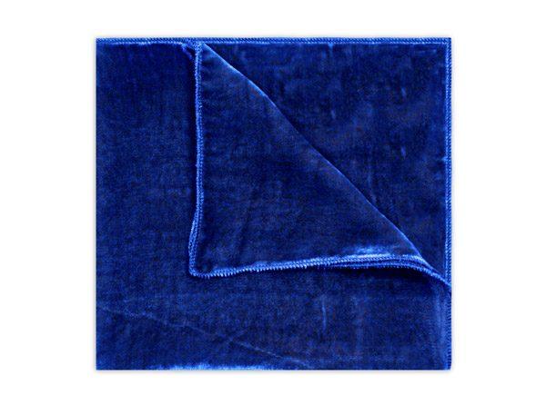 COBALT BLUE SILK VELVET SQUARE-0