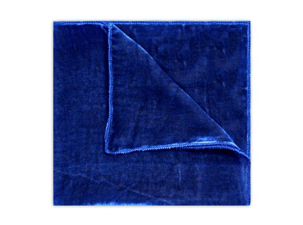 COBALT BLUE SILK VELVET SQUARE