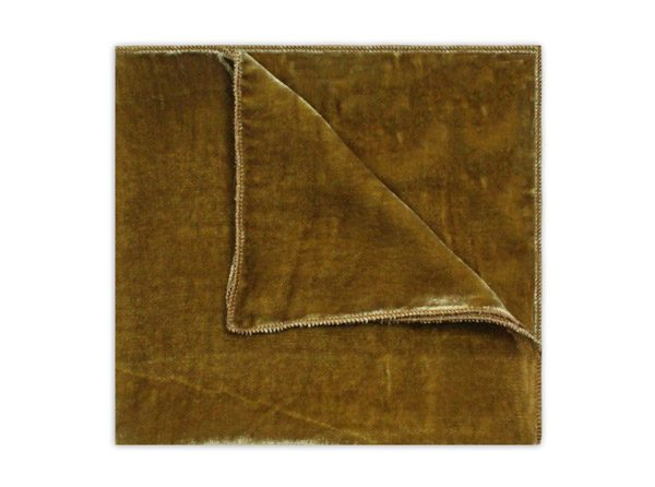 GOLD SILK VELVET SQUARE-0