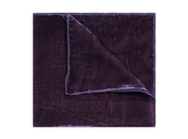 PURPLE SILK VELVET SQUARE-0