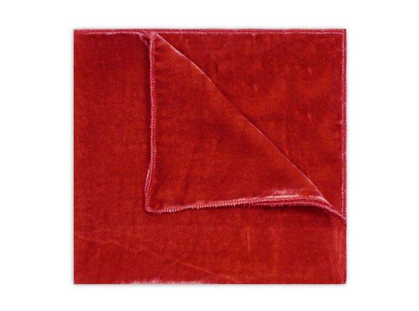 RED SILK VELVET SQUARE-0