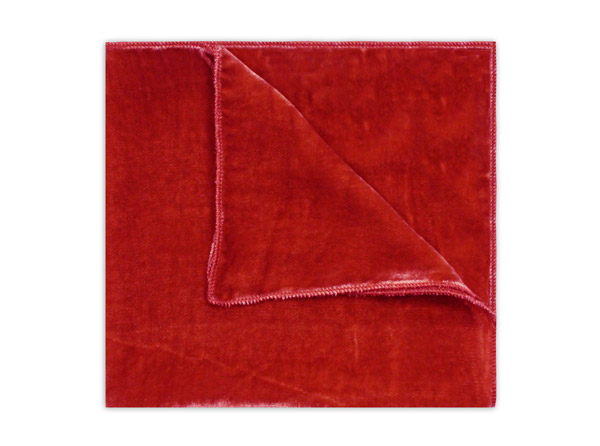 RED SILK VELVET SQUARE