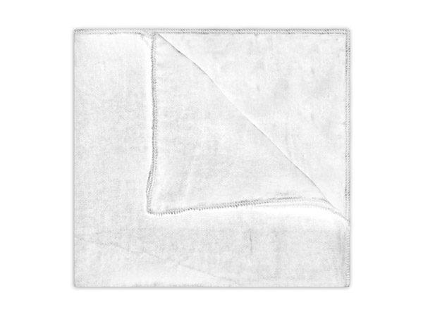 WHITE SILK VELVET SQUARE-0
