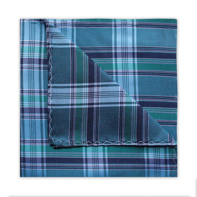 TURQUOISE/TEAL/NAVY CHECK SQUARE-0