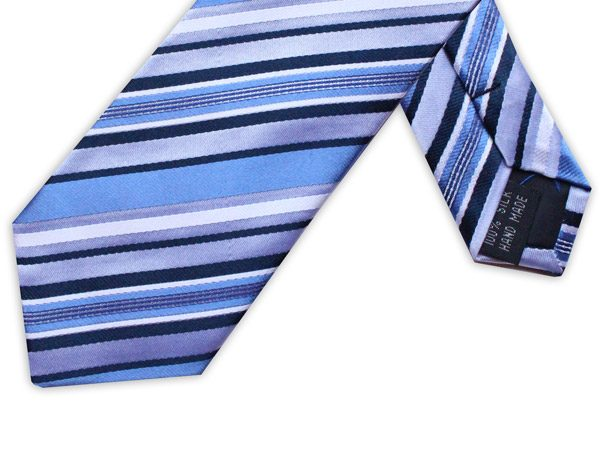 NAVY/BLUE DIAGONAL STRIPE TIE-0