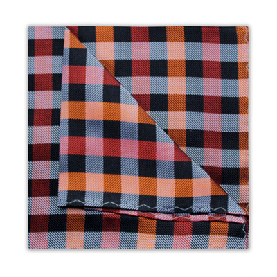 ORANGE/RED/BLACK CHECK SQUARE-0