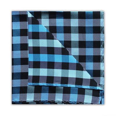 TEAL/BLACK CHECK SQUARE-0