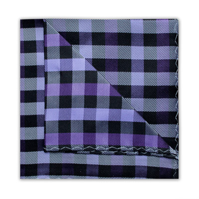 PURPLE/BLACK CHECK SQUARE-0