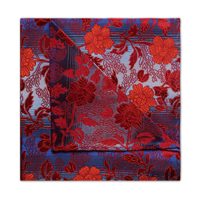 BLUE/RED FLORAL SQUARE-0