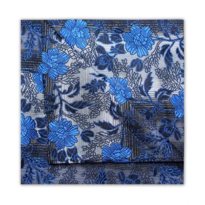 BLUE/GREY/BLACK FLORAL SQUARE-0