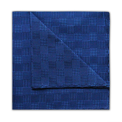 NAVY HOUNDSTOOTH CHECK SQUARE-0