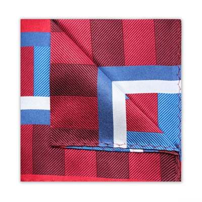 RED/WHITE/BLUE STRIPE SQUARE