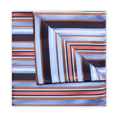 BROWN/ORANGE DIAGONAL STRIPE SQUARE-0